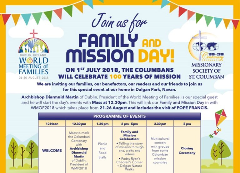 Fr Cyril Lovett talks about the events planned for Family and Mission Day