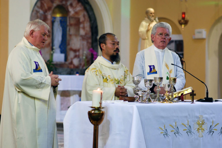 Fr Peter Dong leads celebration for Feast of St Columban