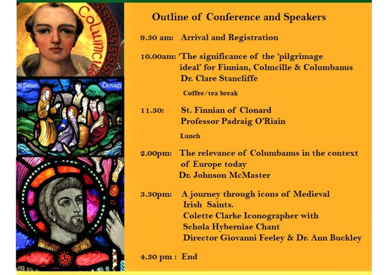 Conference in Dalgan on SS Finian, Colmcille and Columbanus