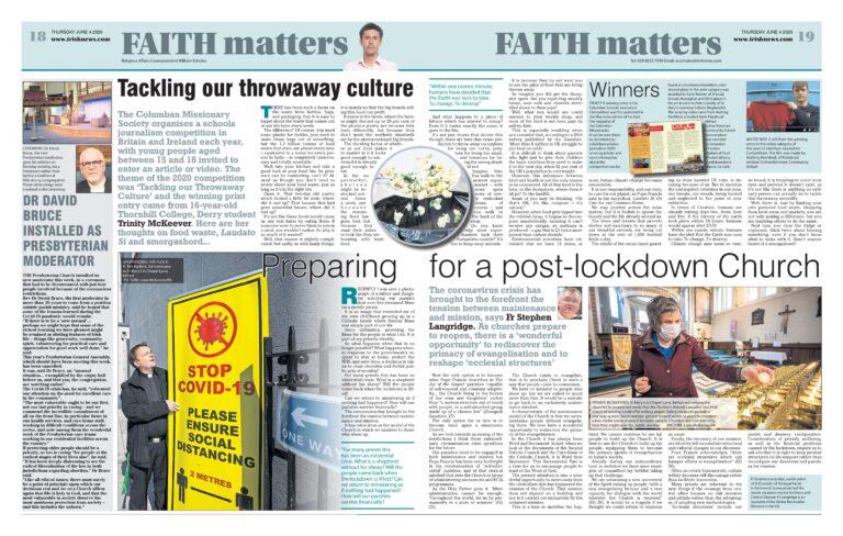 Columban Journalism Winners Featured in National Newspaper