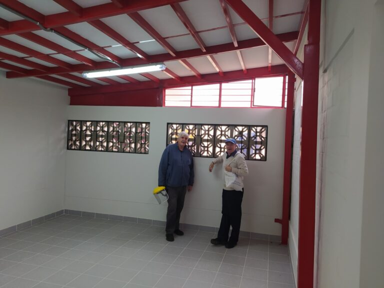 Building work at Manuel Duato special needs school