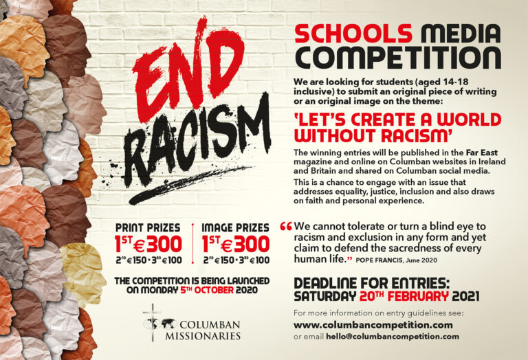 Columbans launch schools media competition: 'End Racism'
