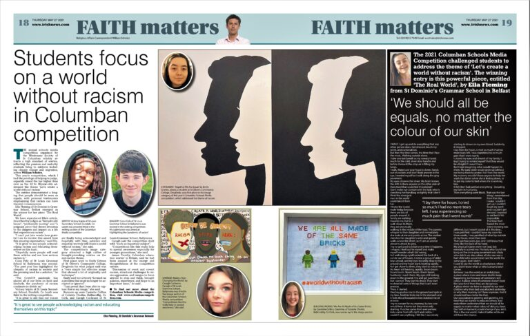 Columban Winners Feature in National Newspaper